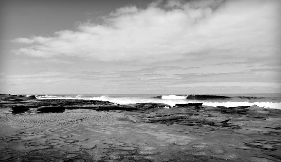 Ocean Photograph - Monochrome Tides by Danielle Marie