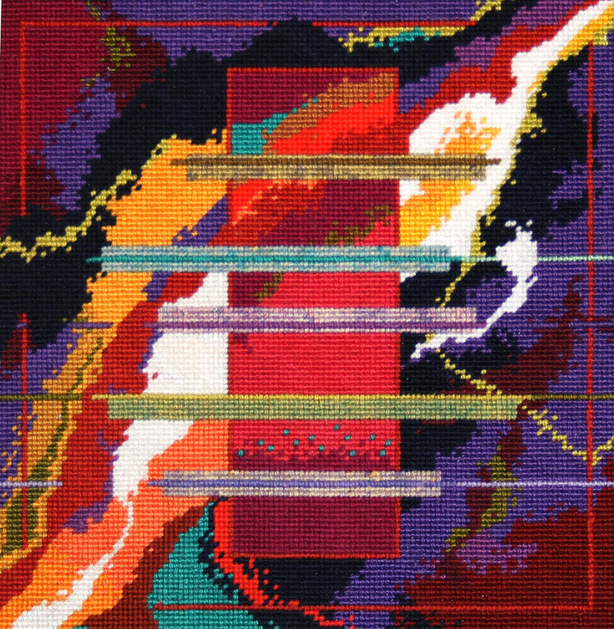 Abstract Tapestry - Textile - Monolith 2001 Space Odyssey by Connie Pickering Stover