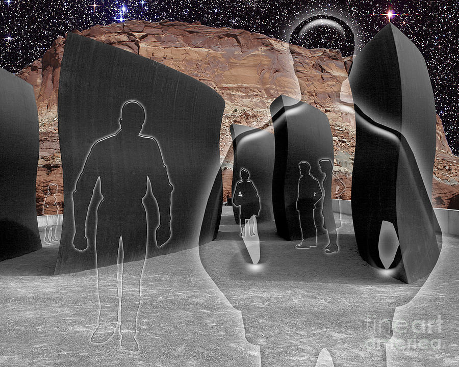 Surreal Digital Art Digital Art - Monoliths For The Empty People by Keith Dillon
