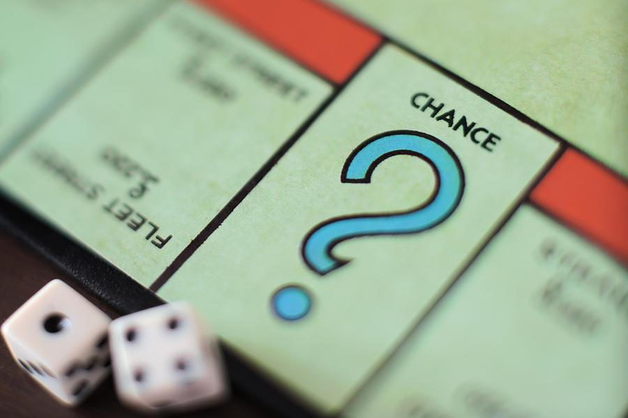 Monopoly Chance - Question Mark, Concept Photograph by Marco Rosario Venturini Autieri