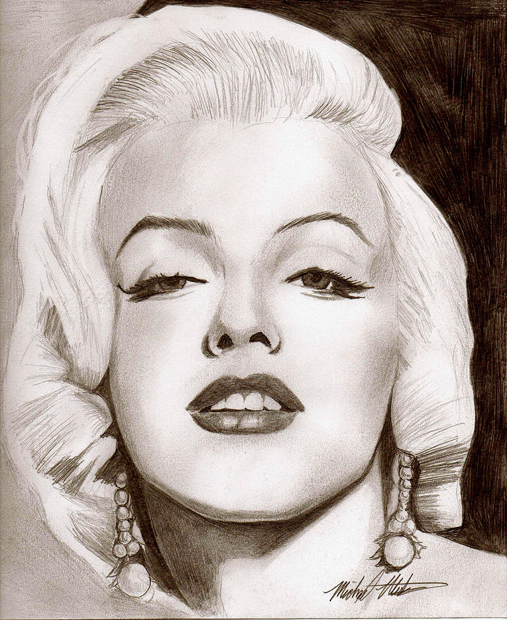 Marilyn Monroe Digital Art - Monroe by Michael Mestas