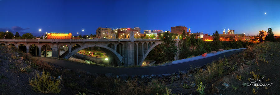 Spokane Wa Photograph - Monroe Street Bridge Panorama by Dan Quam