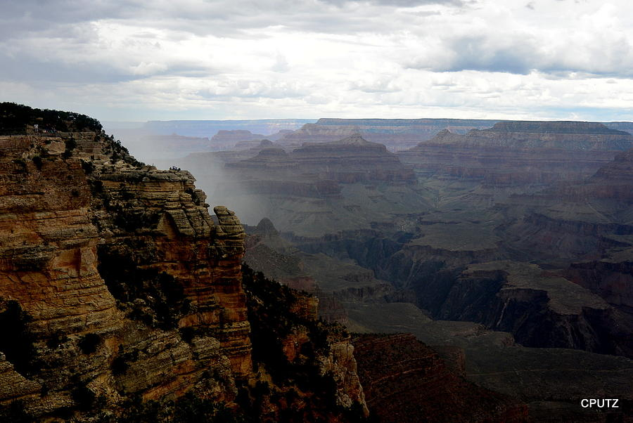Grand Canyon National Park Photograph - Monsoon Rain Approaching by Carrie Putz