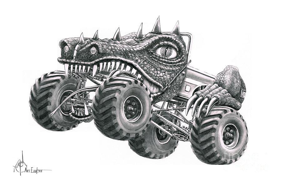 monster cars drawings