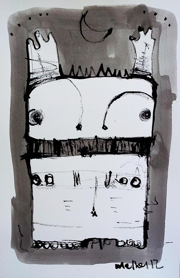 Sumi Drawing - Monstra No. 1 by Mark M  Mellon