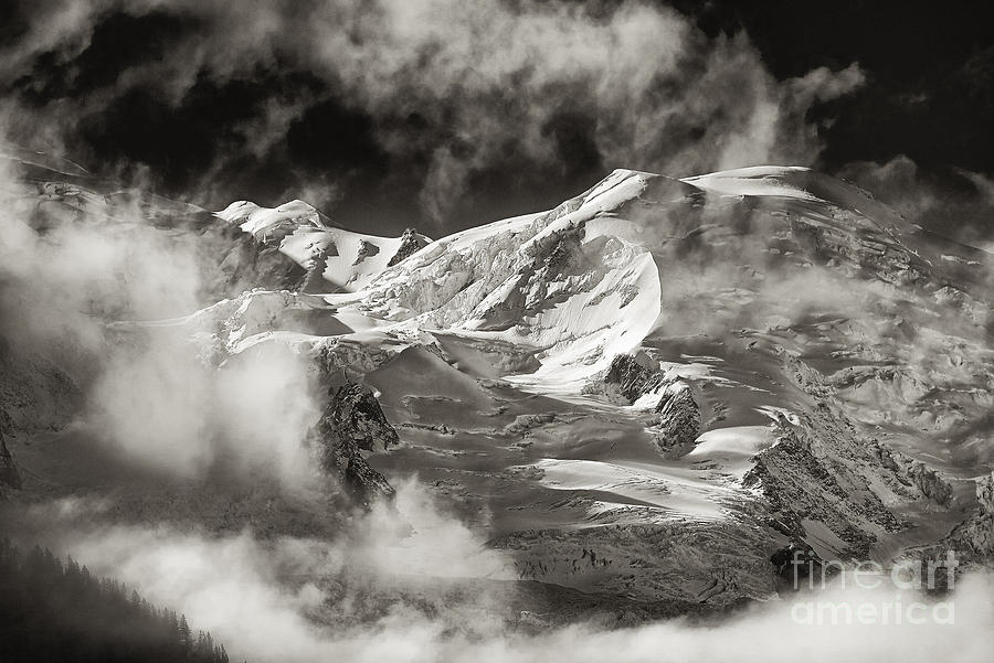 France Photograph - Mont Blanc Group by Juergen Klust