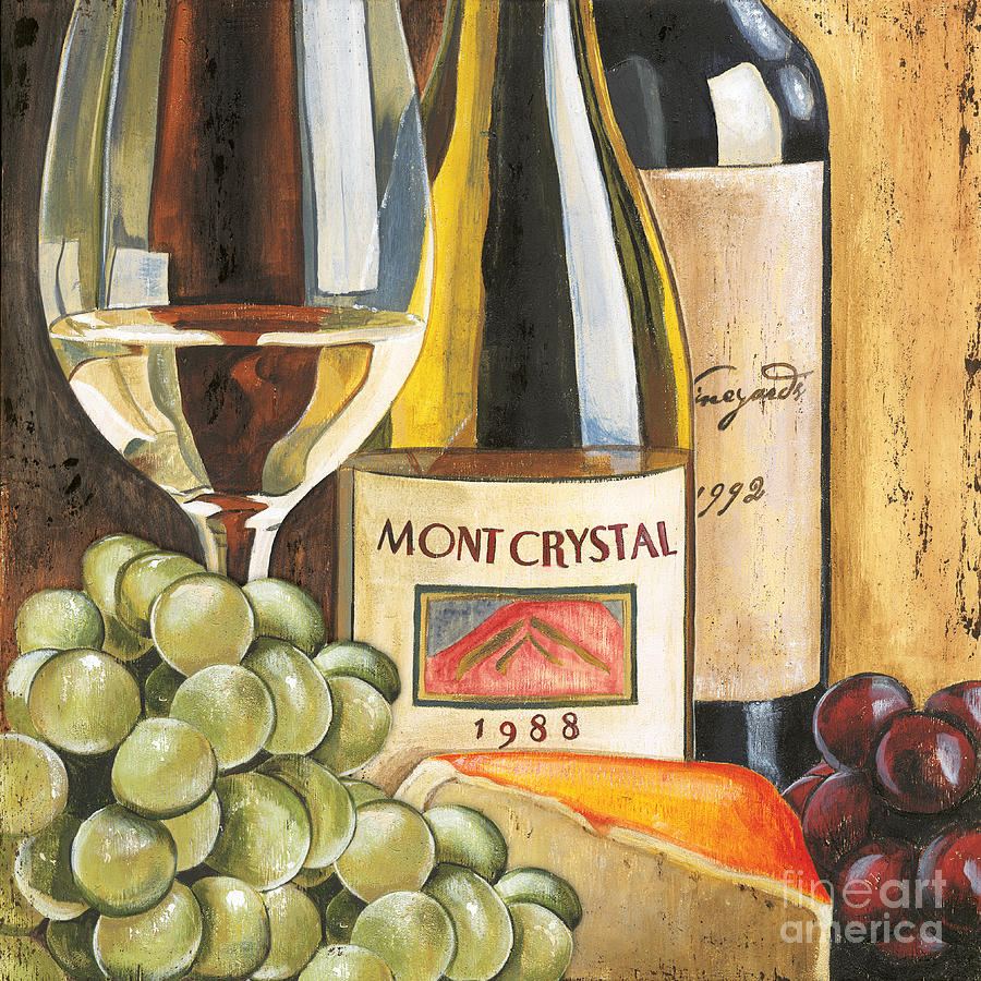 Green Grapes Painting - Mont Crystal 1988 by Debbie DeWitt