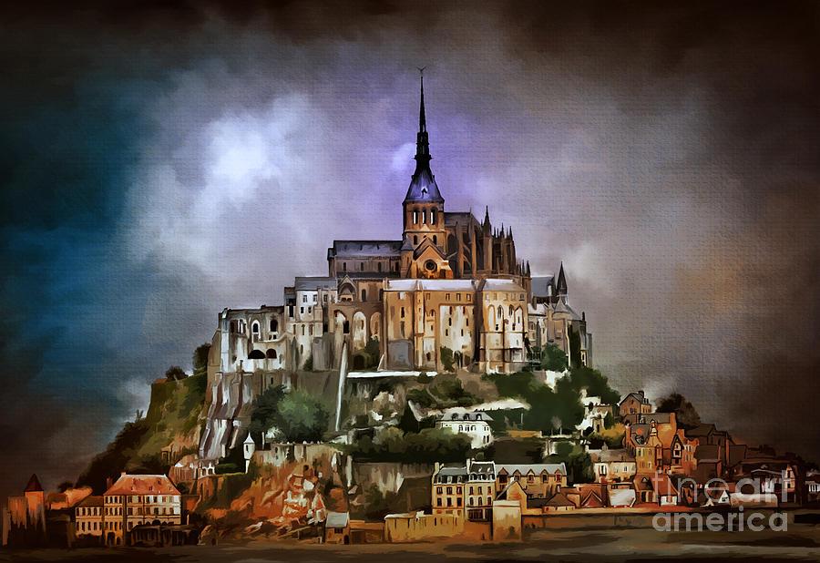 Mont Saint Michel Digital Art - Mont Saint Michel   by Andrzej Szczerski