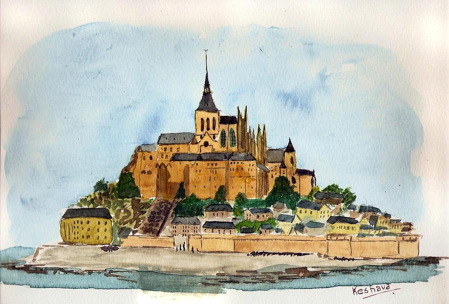 Mont Saint-michel Painting - Mont Saint-michel by Keshava Shukla