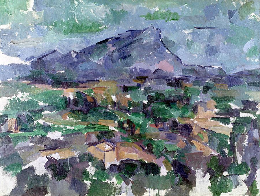 Landscape Painting - Montagne Sainte-victoire by Paul Cezanne