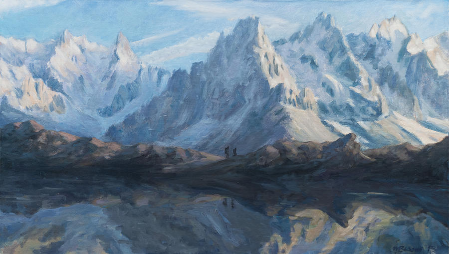 Montain Mirror Painting By Marco Busoni