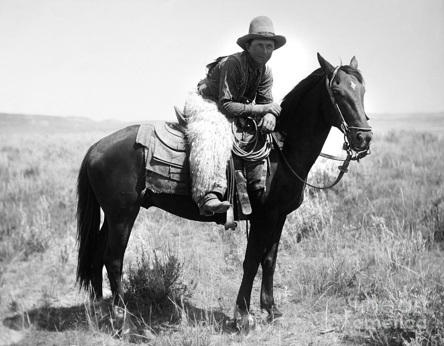 1904 Photograph - Montana Cowboy 1904 by Granger