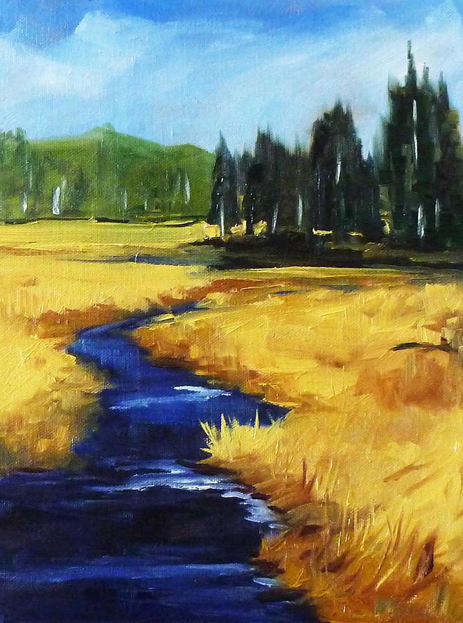 Montana Painting - Montana Creek by Nancy Merkle