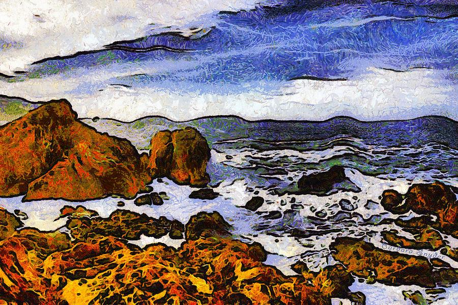 Barbara Snyder Digital Art - Montana Da Oro San Luis Obispo State Park by Barbara Snyder