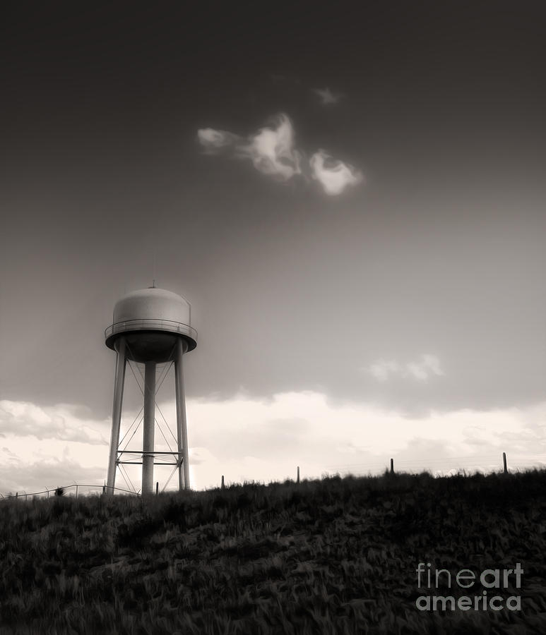 Water Tower. Montana Painting - Montana - Lonely Sky by Gregory Dyer