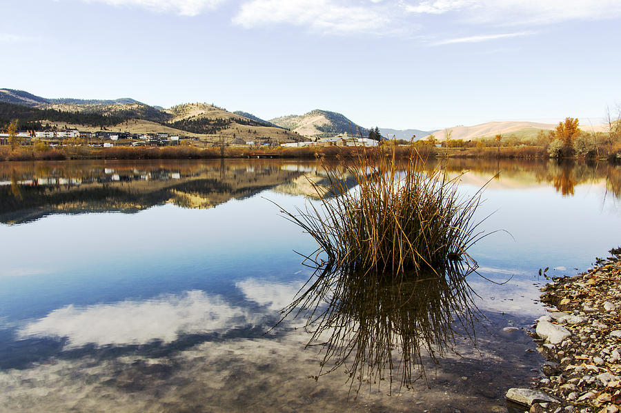 Water Photograph - Montana Reflections by Dana Moyer