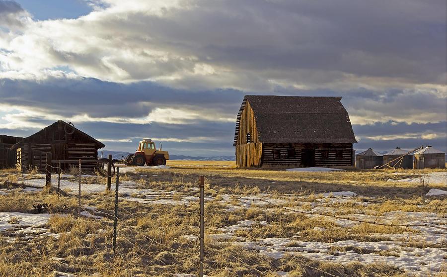 Storm Photograph - Montana Rural Scenery by Dana Moyer