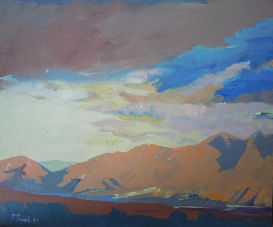 Landscape Painting - Montana Storm by Francine Frank
