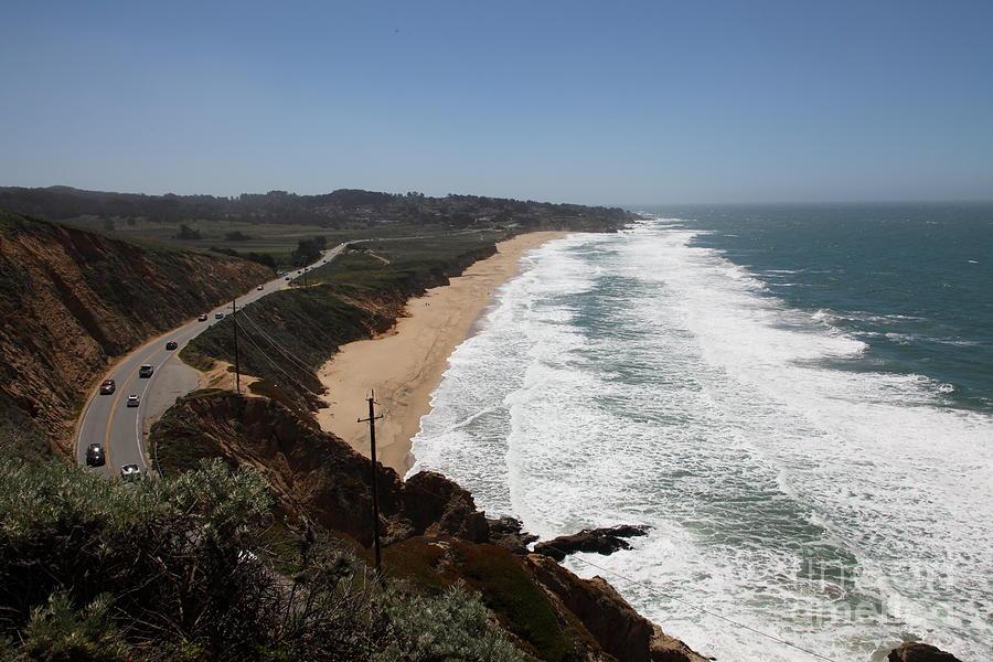 Bayarea Photograph - Montara State Beach Pacific Coast Highway California 5d22624 by Wingsdomain Art and Photography