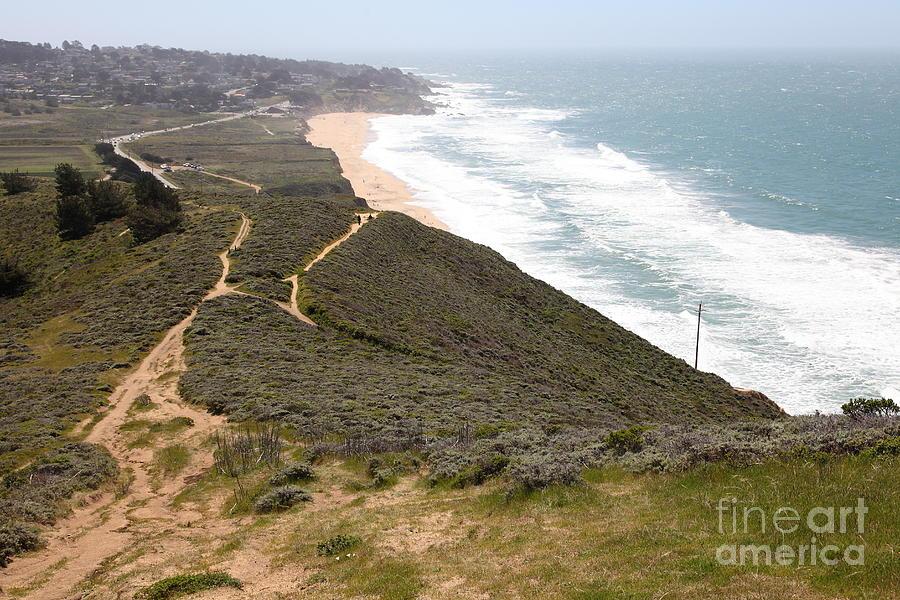 Bayarea Photograph - Montara State Beach Pacific Coast Highway California 5d22632 by Wingsdomain Art and Photography