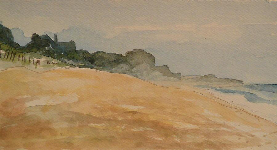 Beach Painting - Montauk by Valerie Lynch