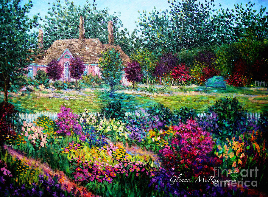 Montclair English Garden Painting By Glenna Mcrae