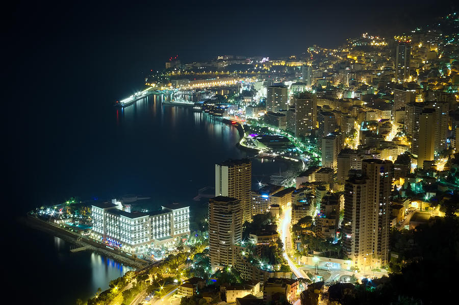 Architecture Photograph - Monte Carlo By Night  by Ioan Panaite