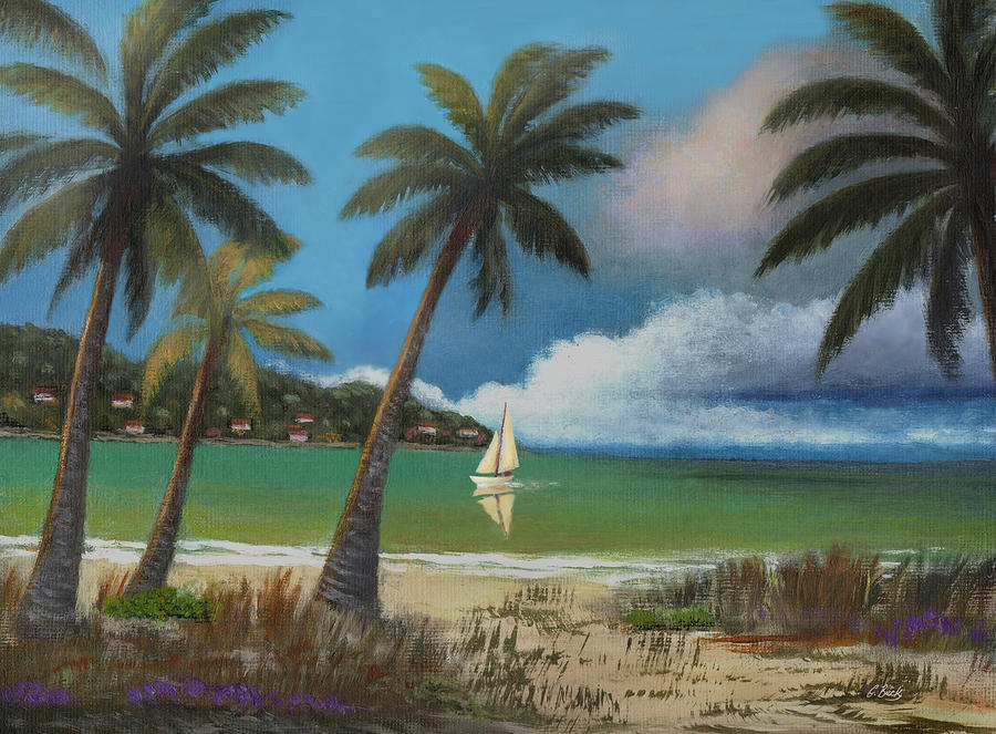 Tropical Painting - Montego Bay by Gordon Beck