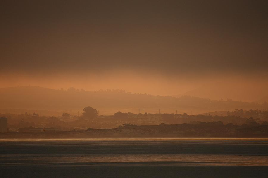Monterey Photograph - Monterey Bay Morning Glow by Elery Oxford
