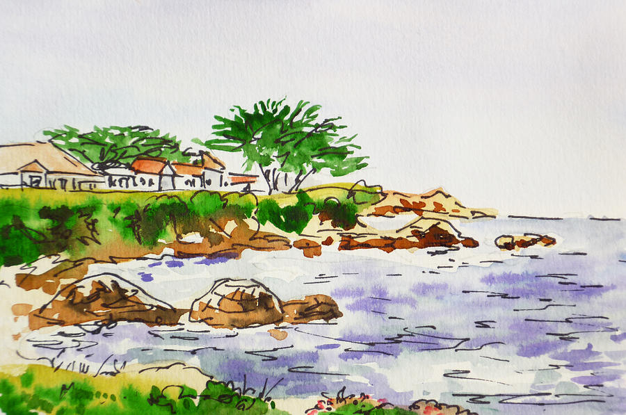 Monterey Painting - Monterey- California Sketchbook Project by Irina Sztukowski