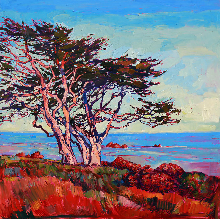 Monterey Painting - Monterey Diptych Right Panel by Erin Hanson
