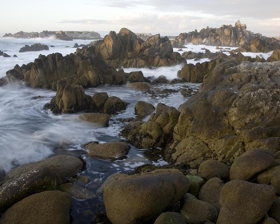 Rocky Coastline Photograph - Monterey Rocky Coast by Neal Martin