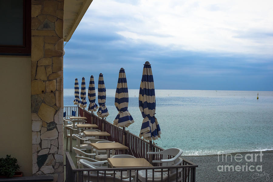 Monterosso Outdoor Cafe by Prints of Italy