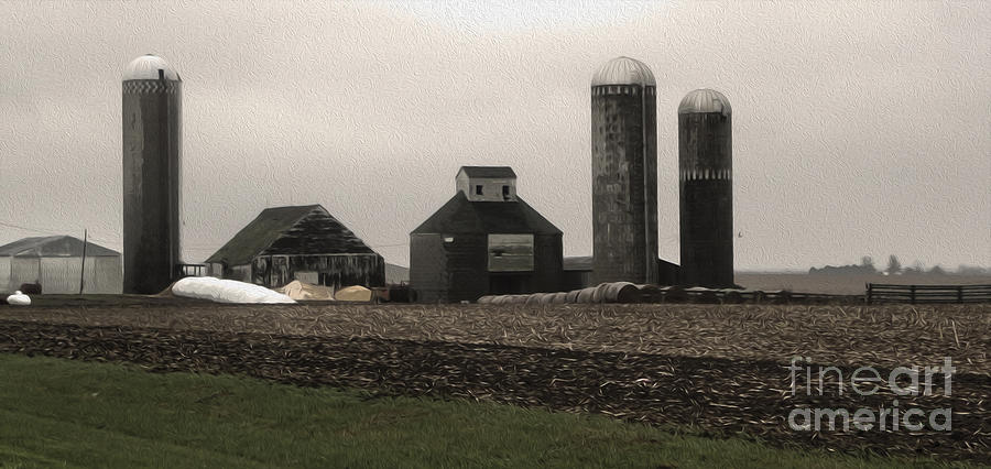 Old Brick Building Photograph - Montezuma Iowa - Farm by Gregory Dyer