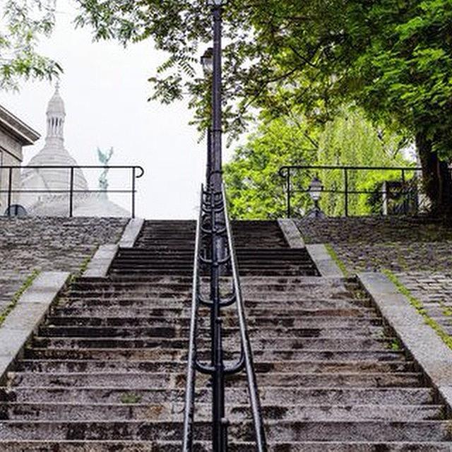 Paris Photograph - Montmartre Steps Nr Sacre Coeur by Georgia Fowler