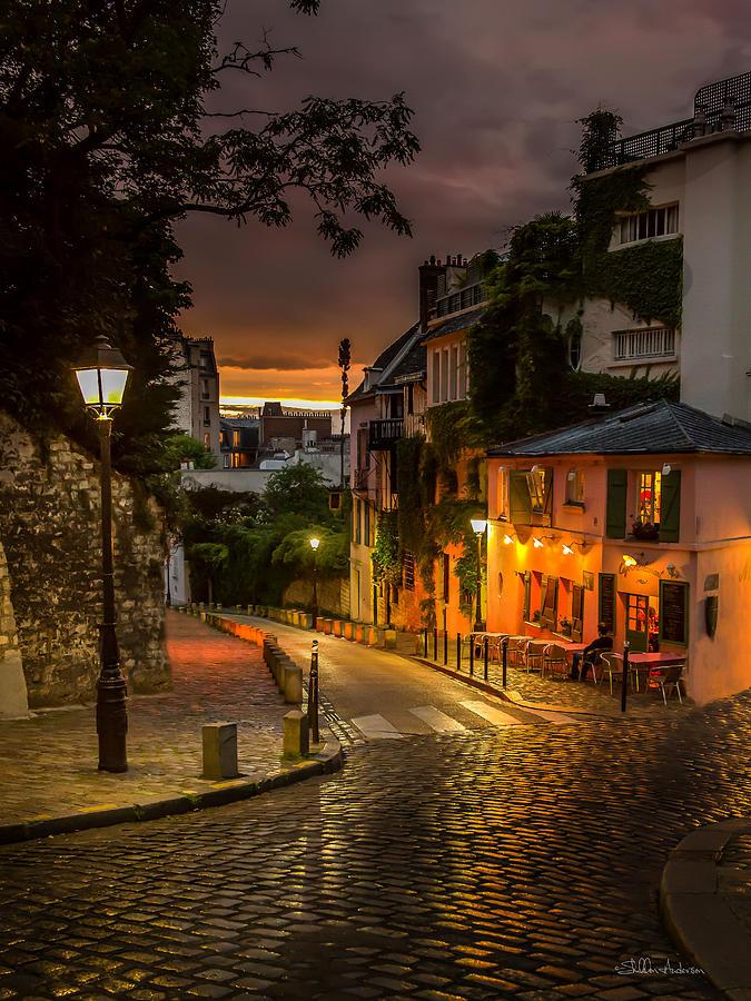 Montmartre Streets Sunset Digital Art