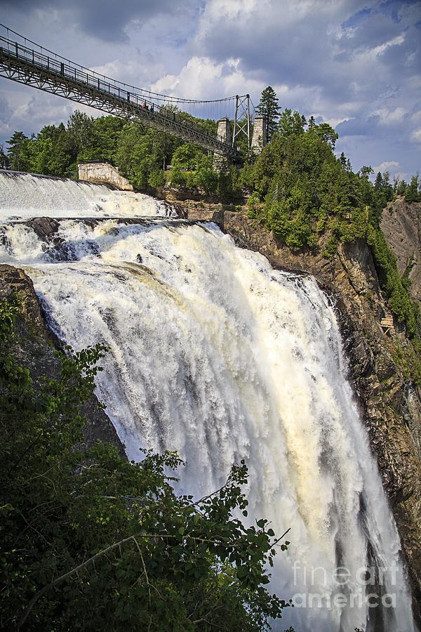 2013 Photograph - Montmorency Falls Park Quebec City Canada by Edward Fielding