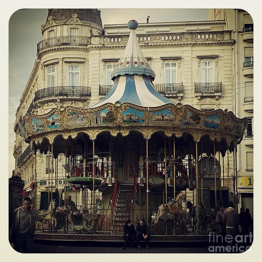 Buy Art Online Photograph - Montpellier Carousel by Victoria Herrera