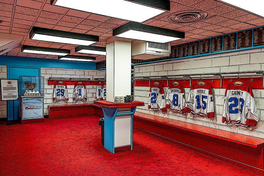 Hockey Painting - Montreal Canadians Hall Of Fame Locker Room by Boris Mordukhayev