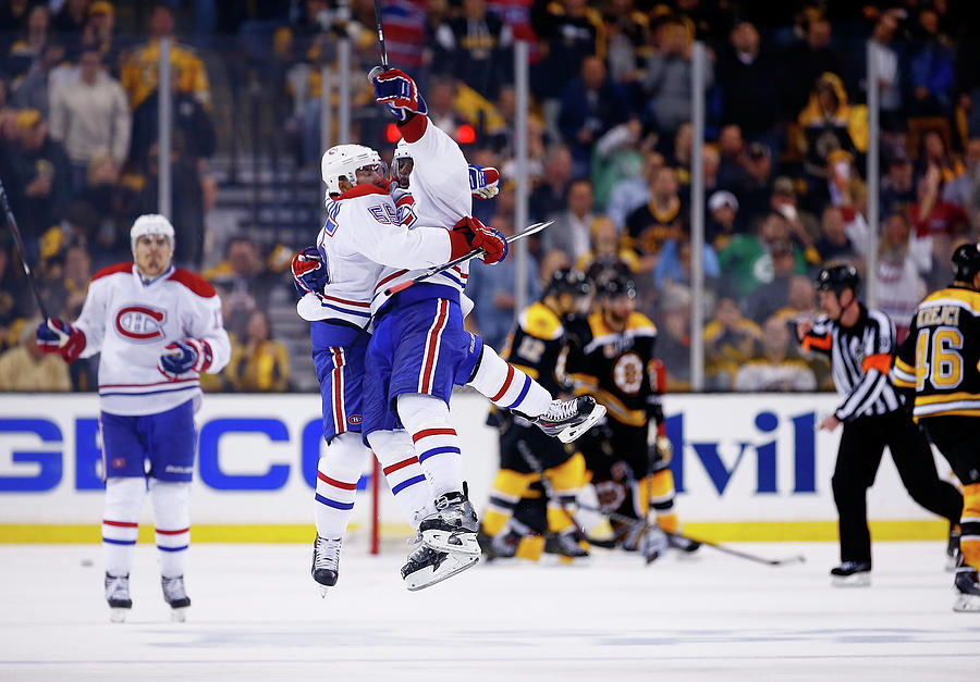 Montreal Canadiens V Boston Bruins - Photograph by Jared Wickerham