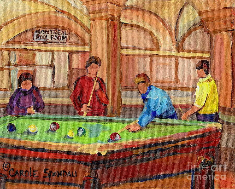 Montreal Painting - Montreal Pool Room by Carole Spandau