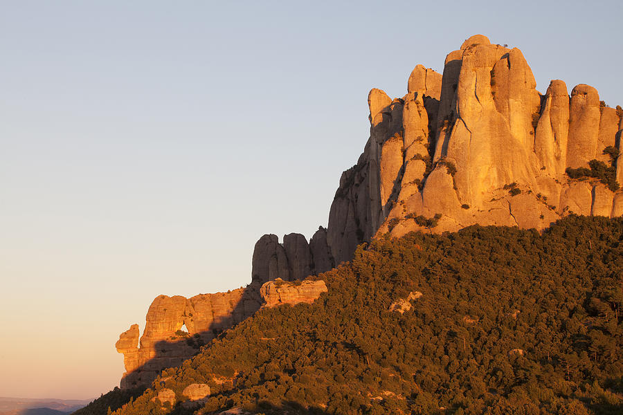 Bages Photograph - Montserrat At Sunset by Javier Fores