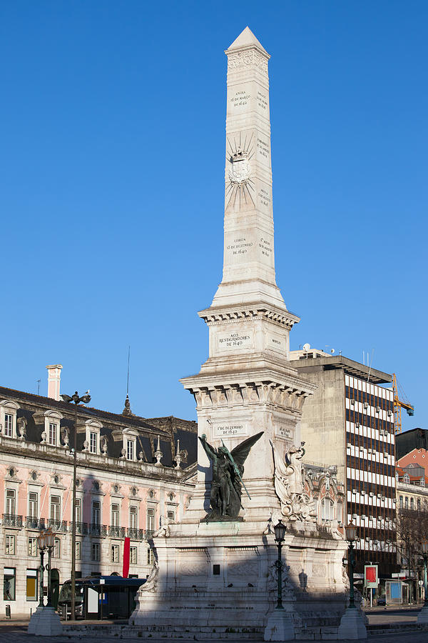Lisbon Photograph - Monument On Restauradores Square In Lisbon by Artur Bogacki