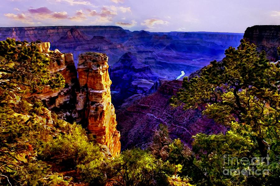 Angel Digital Art - Monument To Grand Canyon  by Bob and Nadine Johnston