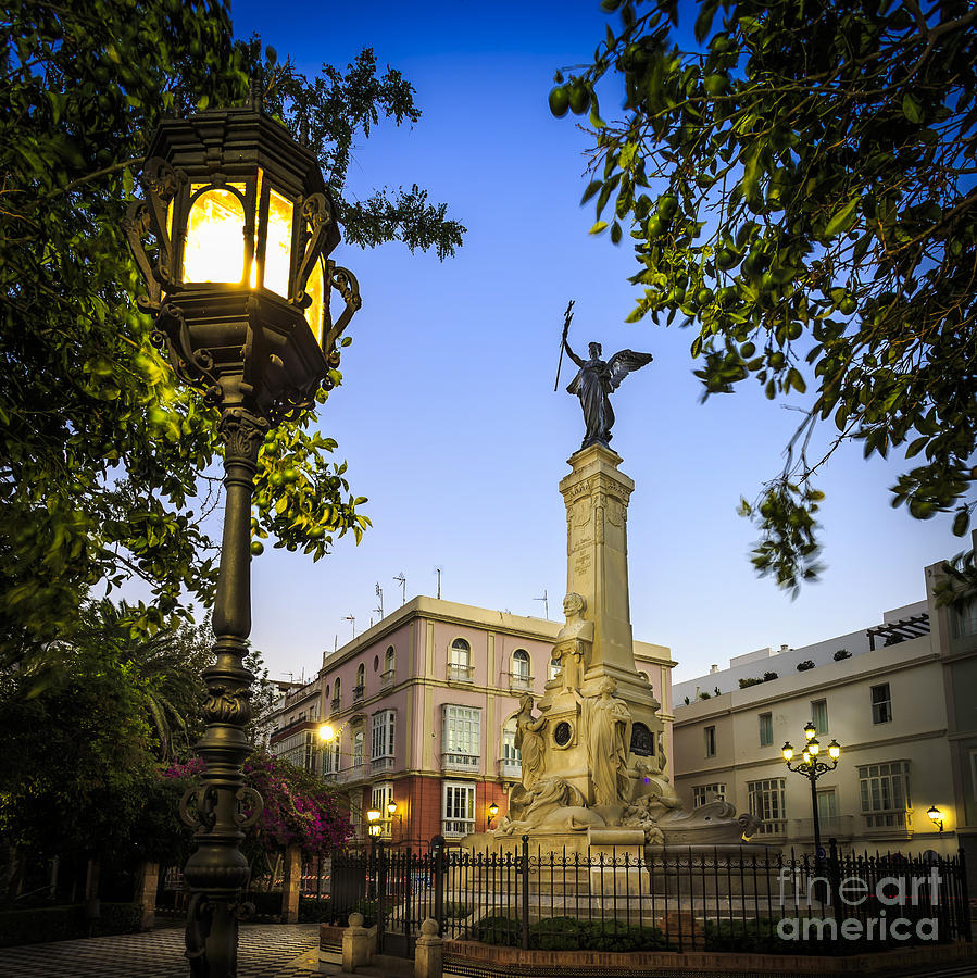 Andalucia Photograph - Monument To The Marquis Of Comillas Cadiz Spain by Pablo Avanzini