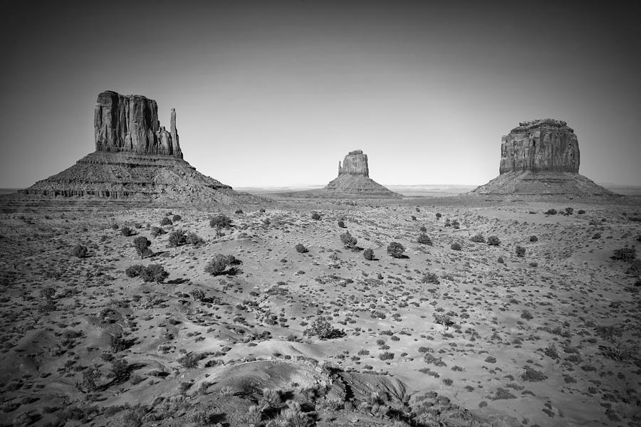 America Photograph - Monument Valley Bw by Melanie Viola