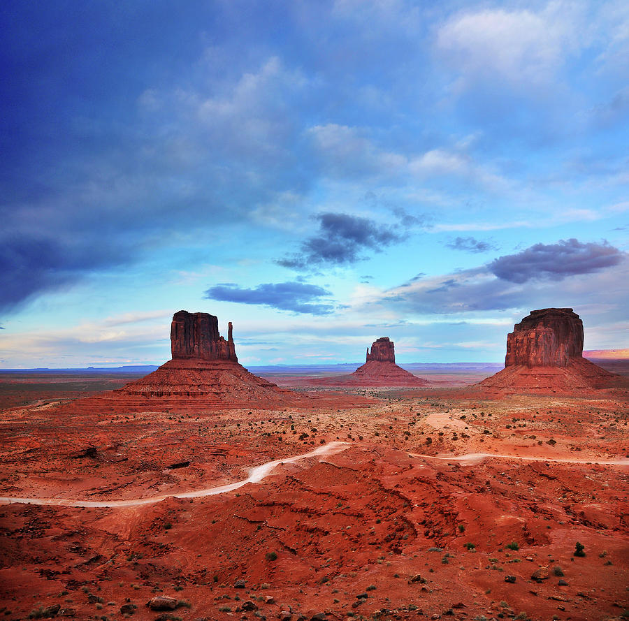 Monument Valley Cool Light After Sunset Photograph by Utah-based Photographer Ryan Houston