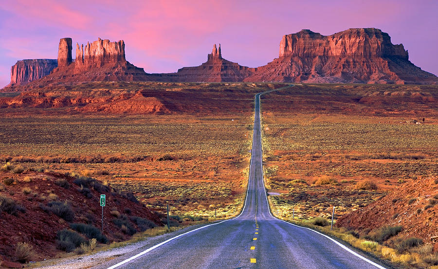 Highway 191 Photograph - Monument Valley by Darryl Wilkinson