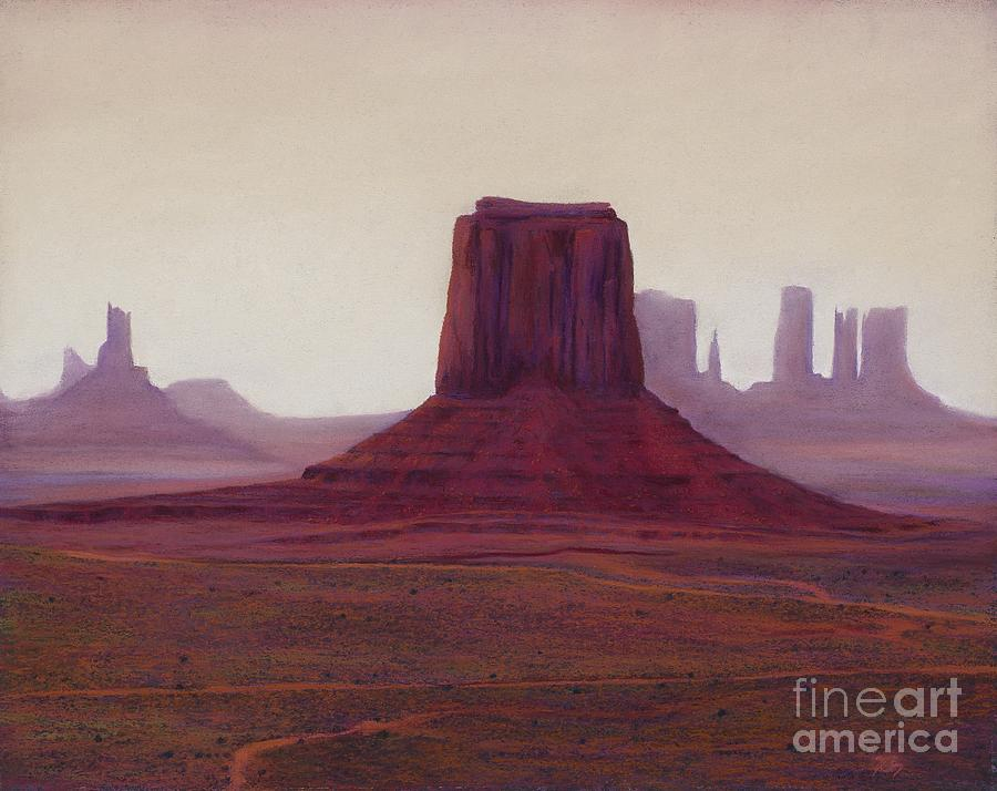 Monument Valley Painting - Monument Valley- Haze by Xenia Sease