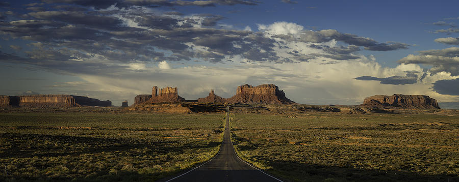Monument Photograph - Monument Valley Panorama by Steve Gadomski